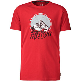 Maloja BertinM. T-Shirt Heren, red poppy